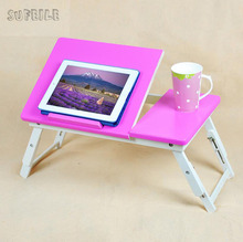 SUFEILE Portable Lapdesks Folding Laptop Table Foldable household Sofa Bed Tray notebook laptop desk learning small table S9D15(China)