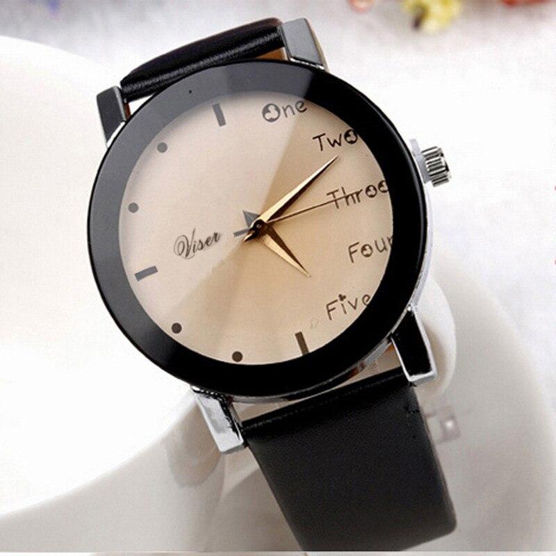 2016 Hour Leisure Clock Letters Number Print Watches Women Ladies Watch Quartz Wristwatches Relogio Feminino Saat New Year Gift<br><br>Aliexpress