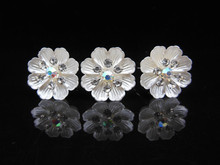 20pcs/lot 2015 Free Shipping Wholesale Flower Crystal Rhinestone Women Wedding Bridal Party Prom Hair Clips Pins Hair Jewelry