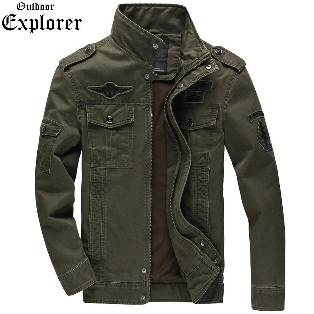 Mens Military Jackets Spring Army Tactical Style Airborne Flight Jeans Jacket Bomb Plus Size 6Xl Outwear Cotton Tad Fashion Men
