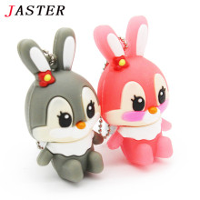 JASTER lovely rabbit usb flash drive 8GB 16GB 32GB usb flash hang decorations memory stick pen drive for girl free shipping