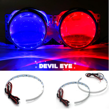 2X Devil Eye Auto Headlight Halo Rings For Angel Eye LED Chips 60 SMD Car Fog light Motorcycle With Lam