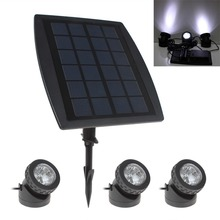 High Quality 3 x 6 White Light LEDs Waterproof Solar Powered Garden Lamp + 1 x Solar Panel
