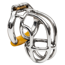 Ergonomic Stainless Steel Stealth Lock Male Chastity Device,Cock Cage,Fetish Virginity Penis Lock,Cock Ring,Chastity Belt,S056(China)