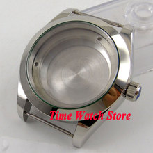 40mm polished stainless steel watch case fit ETA 2824 2836 movement C110