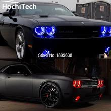 6pcs super bright fog light and headlight RGB led angel eyes kit for Dodge Challenger 2008-2014 with remote control car styling