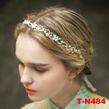 Jeweled headbands hair accessories wedding bridal bride hair ornaments fresh water pearl crystal hair jewellery
