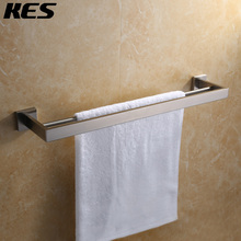 KES Modern Square Bathroom Lavatory Double Towel Bar Wall Mount, Polished / Brushed Stainless Steel, A2501/A2501-2