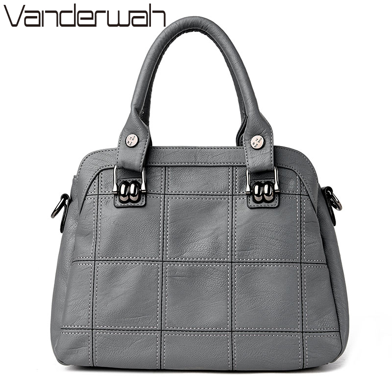 VANDERWAH  TOTE Genuine Leather bags handbags women famous brands casual large capacity big shoulder crossbody bags female bag<br>