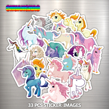 33 Pcs Mixed Dream Sticker Unicorn Cute Cartoon Anime Toy Kids Stickers for DIY Portable Phone Luggage Skateboard Room Stickers()