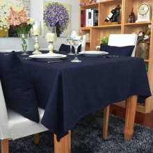 Hot sale Modern style navy solid Table Cloth 100%cotton table cover,nappe de table  for Dining, Kitchen Home Textile SP1115