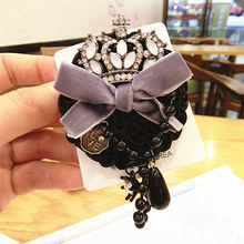 Nine Flower Brand 5 Styles Fashion Vintage Bowknot Crown Cute Cat Brooches For Women Corsage Pin Luxury Designer Jewelry(China)
