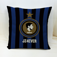 Italia Germany Spain England Football Clubs Pattern Cushion Case INTER AC Soccer Cushion Covers Capa Almofada Fans Best GIFT(China)