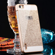 Funda for Huawei P8 Lite Case Glitter Bling Crystal Hard PC Back Cover For Huawei P8Lite Case Sparkling Phone Cases Coque