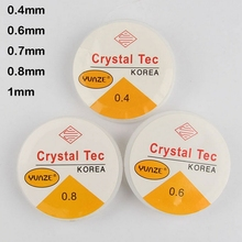 Free Shipping Crystal Beading Stretch Cord,Elastic Line,Transparent Clear Round Elastic Crystal Thread 0.4/0.6/0.7/0.8/1mm(China)