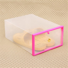 2017 Hot make up box Foldable Stackable Clear Small Plastic Drawer Case Organizer Box Holder Shoe Storage 5 color Transparent