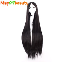 MapofBeauty long Straight cosplay wigs black pink red 13 colors 100cm 40 inch Costume party Heat Resistant Synthetic hair