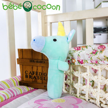 bebecocoon 2017 New Baby Unicorn Rattle Stuffed Toys Infant Hand Puppet Enlightenment Lovely Animal Plush Doll Design Gifts Set(China)