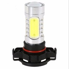 1PCS 5 COB LED H16 5202 5201 PSX24W Bulb Amber Yellow Fog Light 7.5W H1 H3 H7 H4 9003 HB2 9006 HB3 White Red Ice Blue Pink Green