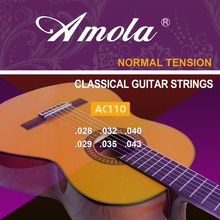 Amola AC110 Classical Guitar Strings Nylon Normal Tension 6pcs/set Strings For Classical Guitar