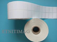 White Coated paper Label Sticker 28x16mmx5000 Sheet/Roll For Label Printer Two-dimensional code serial number bar code printing