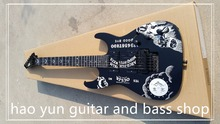 ebony fingerboard sun and moon electric guitar High quality KH-2 Kirk Hammett Ouija black electric guitar ESP GUITA(China)