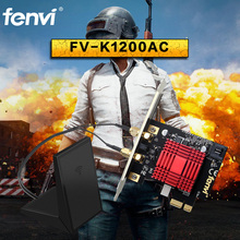 Fenvi Wireless Gaming Wlan Wifi Dual band Desktop WiFi Bluetooth PCI-E Adapter Killer Bigfoot Network For Computer Game PC Gamer(China)