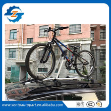 Universal Black silver color aluminium car roof bike rack carrier for car have cross bar(China)