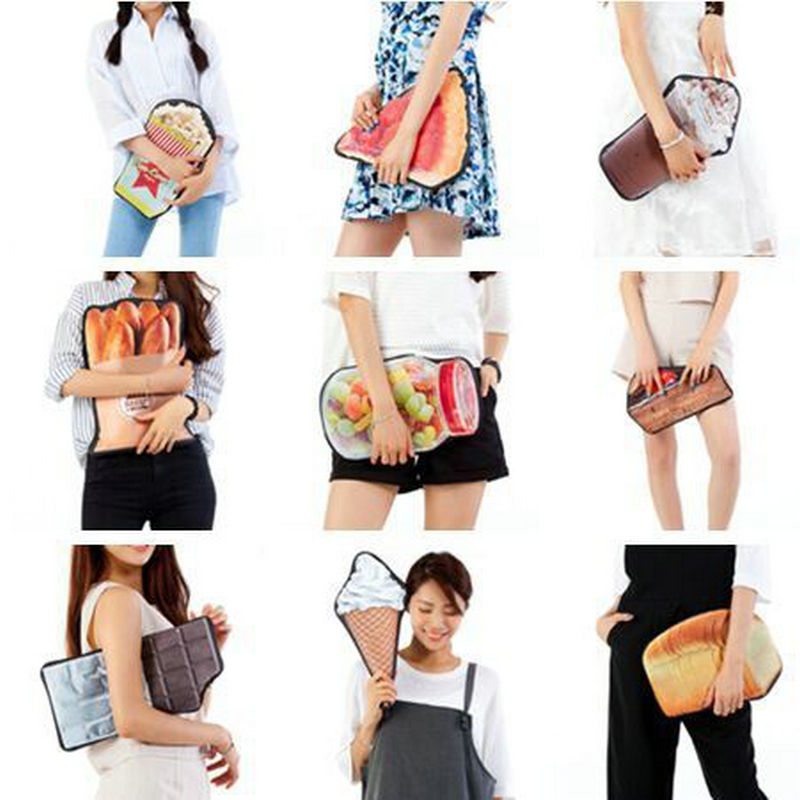 fashion girls funny clutch creative shape baked bread stick strawberry pizza candy bottle bag womens novelty handbag coin purse<br><br>Aliexpress