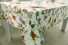 Floral Printed Cotton Tablecloths For Dinning Table Rectangular Table Cover Cotton Flower Table Cloth Toalha De Mesa