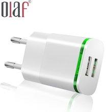 LED Light Micro USB Charger EU 5V 2A 2 Ports Fast Charging Wall Power Adapter For iPhone 5 6 7 s ipad Smasung Xiaomi Accessories