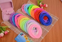 10pcs/lot Candy Cute Gift Screw Thread Bracelets Silicone Night Luminous And Solid Color Style Girl Women Hair Rubber Band Tie