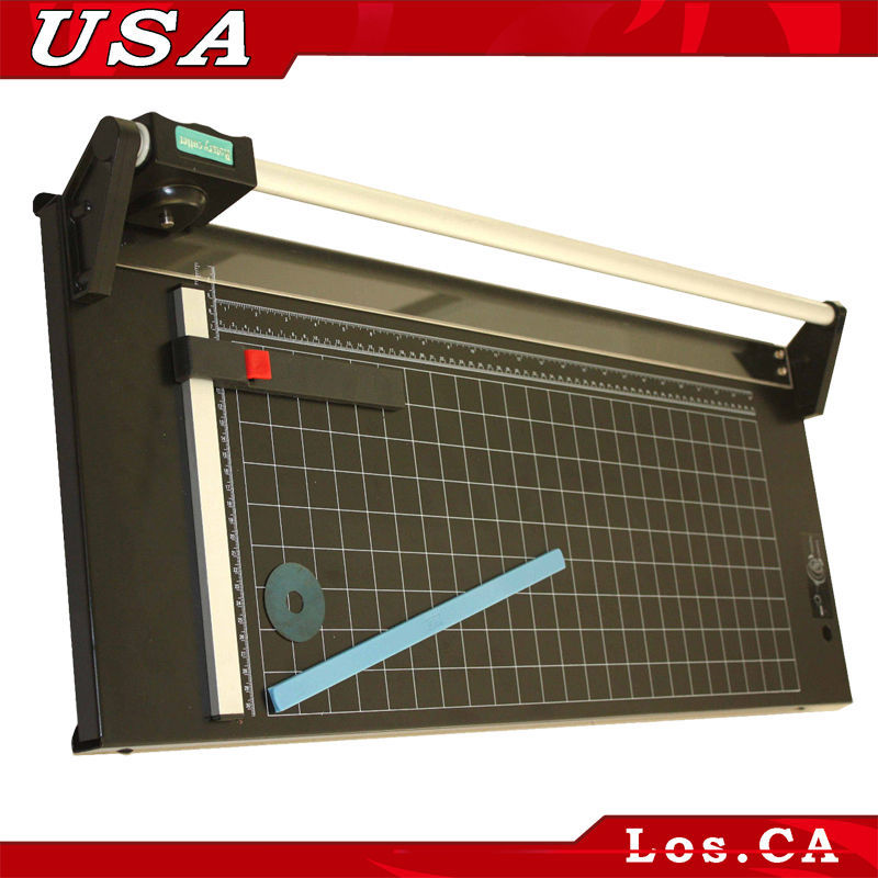 "NEW Heavy Duty 24"" 620mm All Metal Frame Manual Rotary Pro PVC &Paper Perfect Cutter Trimmer"