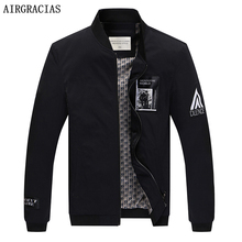 AIRGRACIAS 2017 New Arrival Jackets Spring Brand Men's Fashion Coats Male Casual Slim Fit Stand Collar Jacket Men Coats 806