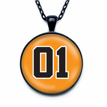 Fashion Men Jewelry Dukes of Hazzard General Lee Car 01 Reference Necklace Black Silver and Bronze Color Photofinishing Jewelry