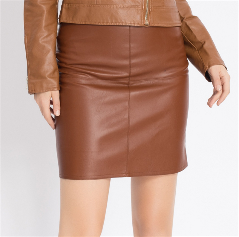 High Quality Brown Leather Mini Skirt Promotion-Shop for High ...