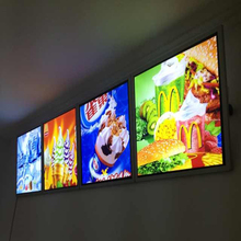 Fast food brand advertising led advertising light boxes(China)