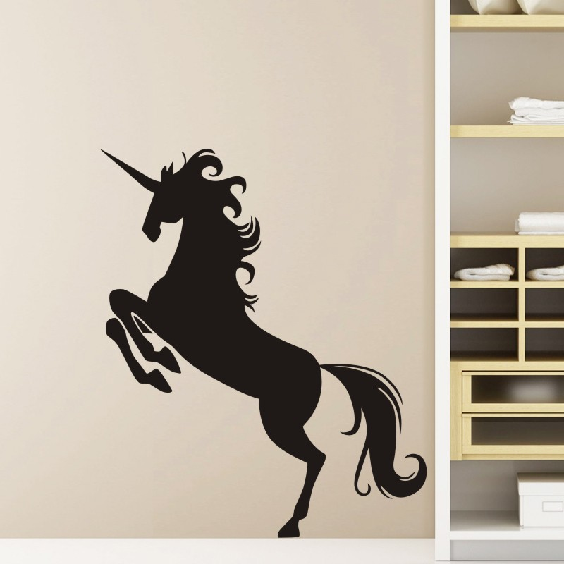 DCTAL Unicornio Wall Sticker Licorne Decal Unicornio Posters Vinyl Wall Art Decals Pegatina Decal Decor Mural Animal Sticker