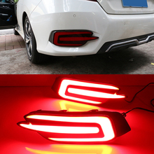 Car Flashing For Honda Civic 2016 2017 Led rear driving lights Brake Lights rear bumper lamp warning light car styling
