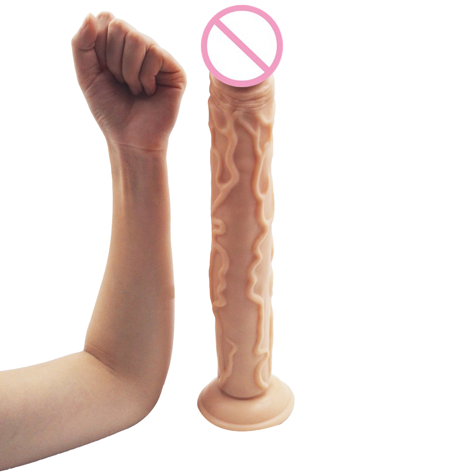 camaTech 35cm/13.8Inches Big Realistic Dildo with Suction Cup Super Soft Silicone Flexible Long Dildo Huge Thick Penis For Women 11