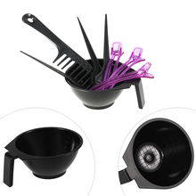 8Pcs/set Hair Dyeing Kit Hair Color Mixing Bowls Hairdressing Dyeing Brush Comb Sectioning Clips Set Salon Hair Coloring Tools(China)