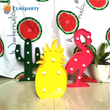 Lumiparty Decorative Flamingo Lamp Pineapple Table Lamp Cactus NightLight Marquee LED Night light Home Christmas Party Decor