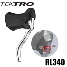 TEKTRO RL340 320g/Pair Racer Road Bike Aluminum Aero Lever Quick Release Mechanism with Rubber Hood 23.8 & 24.2mm Handlebar