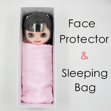 free shipping forturn days for blyth doll icy face protector mask pink sleeping bag white box(China)