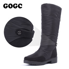 GOGC 겨울 Boots Women 2018 니 (High) 저 (부츠 큰 Size (High) 저 (Quality 방수 Brand Women Shoes Warmful 겨울 Shoes Women 평면(China)