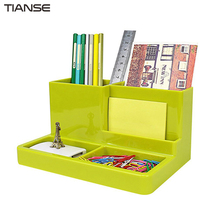 TIANSE TS-1401 Multifunctional Plastic Office Organizer Fashion Lovely Design Pencil Holders Desk Office Accessories(China)