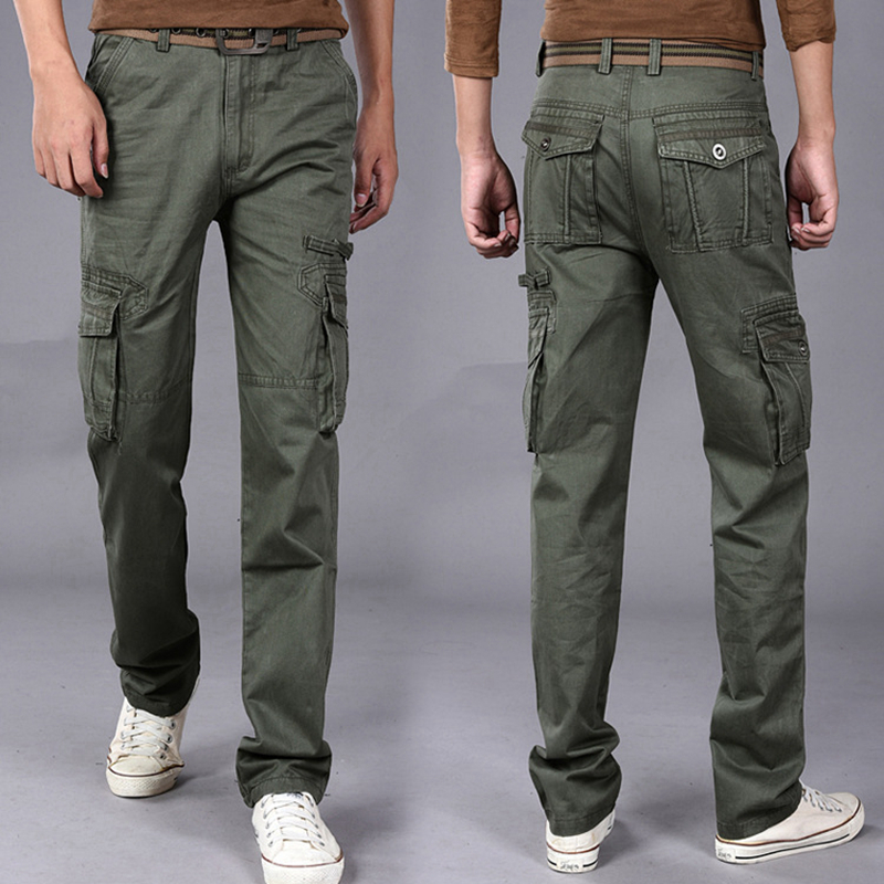3 colors Tactical Male Spring Summer Camping Hiking Outdoor Baggy Pants Male Cargo Trousers Hiking Multi-Pocket Pants<br>