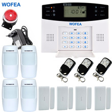 Smart Wireless Home GSM SMS Security GSM Alarm System LCD Screen with English Russian Spanish French