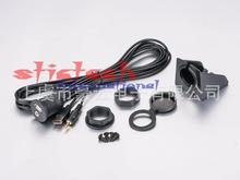 by dhl or ems 100 pcs Black Car Boat Dash Flush Mount USB 3.5mm 2.0 Aux Extension Cable Lead Mounting Panel Top Quality