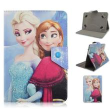 Princess Anna Elsa Snow Queen Leahter Case for 10 inch 3G 4G Lte Octa Core 4GB 32GB Android 5.1 GPS Tablet PC 10 10.1(China)